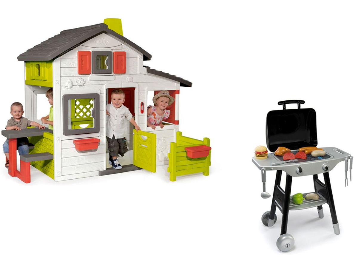 Cabane enfant Friends House + barbecue