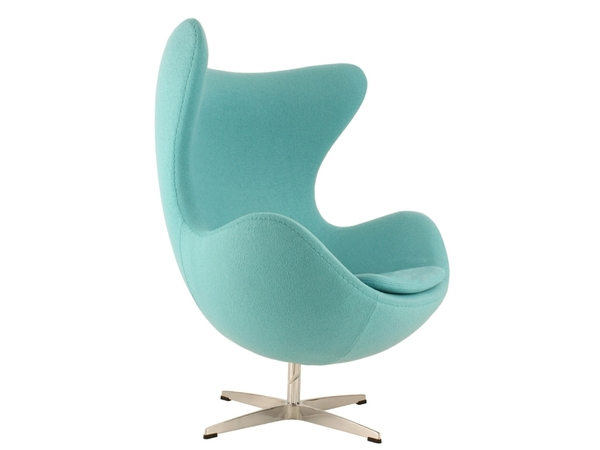 Fauteuil Egg AJ - Turquoise
