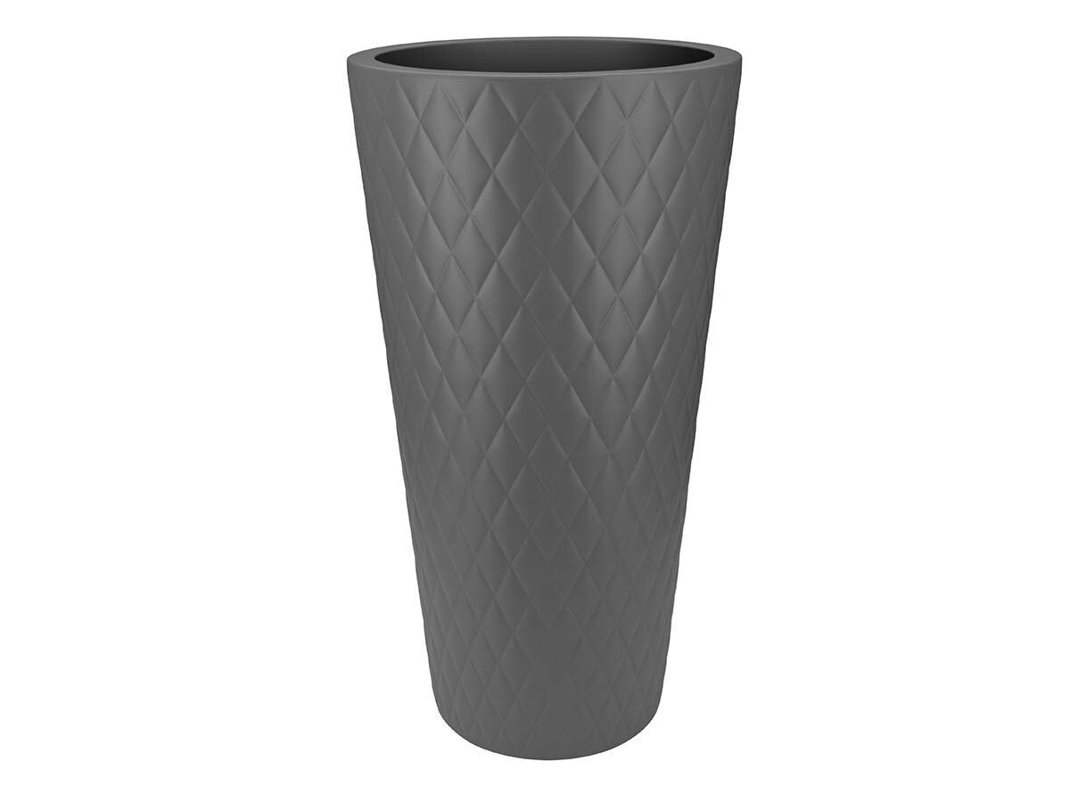 Pot de fleur Pure Straight Crystal High Ø 42 x H.80 cm - Anthracite